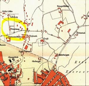 kart fra petersborg 1887