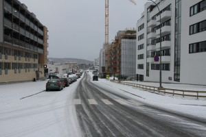 Gladengveien og usikker is på teglverksdammen 001