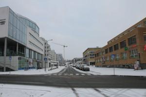 Gladengveien og usikker is på teglverksdammen 021