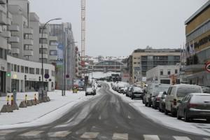 Gladengveien og usikker is på teglverksdammen 025