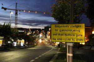 Ensjøveien stengt om natta 006
