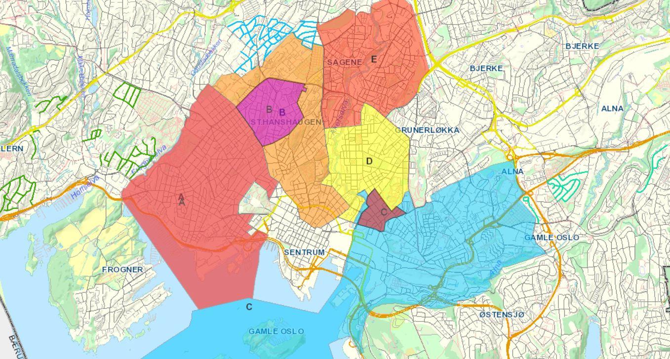 ensjø kart Beboerparkeringen nærmer seg for oss som bor på Ensjø – trer i