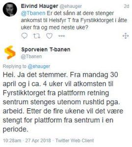 Oslo sporveier Helsfyr svar