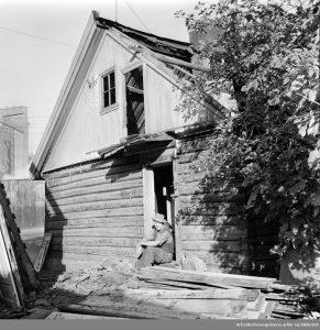 Vålerenga. Sota-hjørnet rives. Oktober 1958
